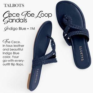 Talbots Cece Toe Loop Sandels Indigo Blue